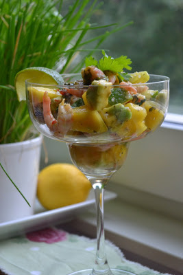 Räkcocktail med mango och lime