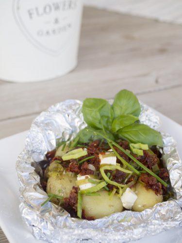 Potatisknyten med fetaost och soltorkad tomat