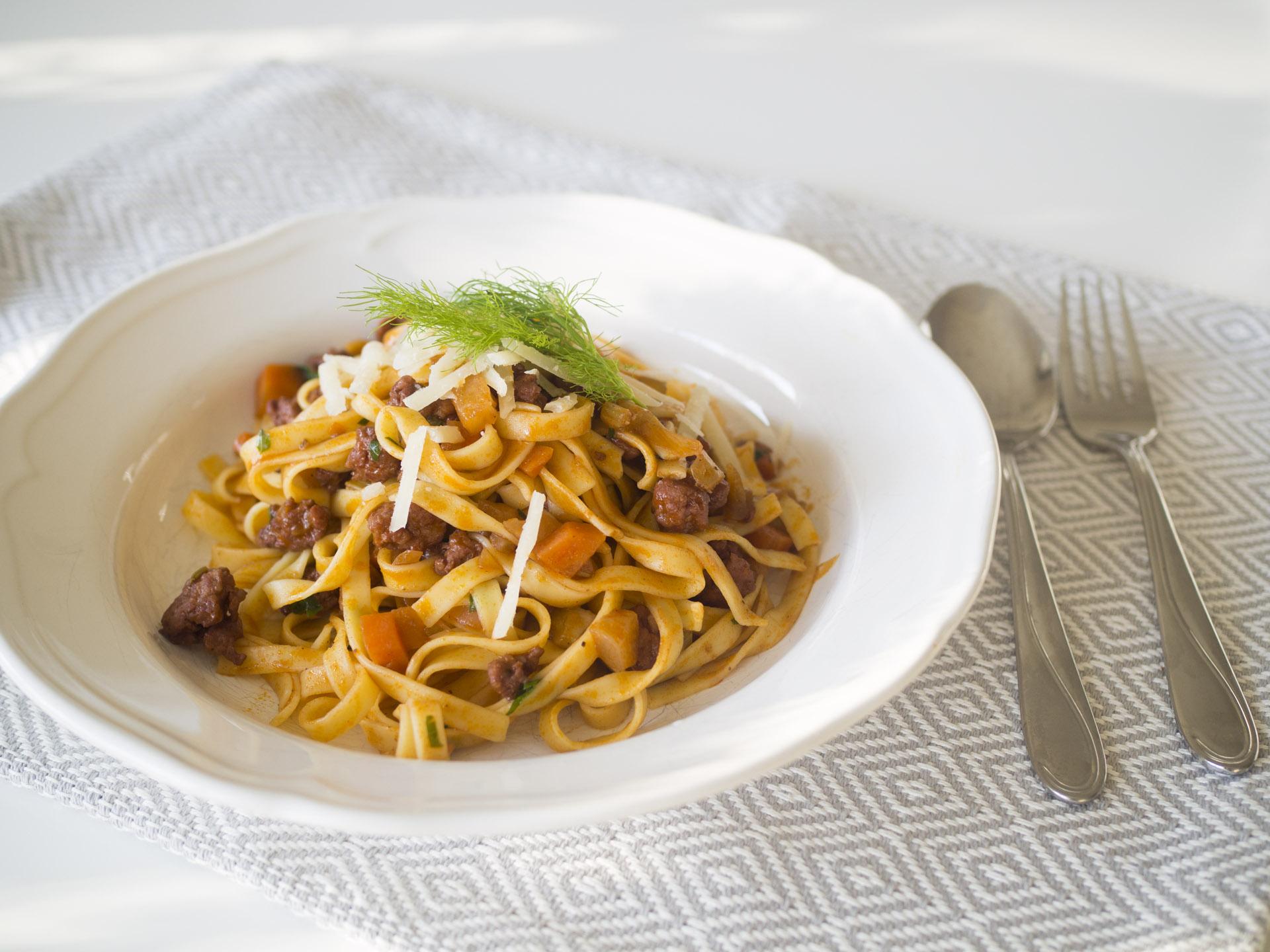 Ragu med salsiccia och fänkål