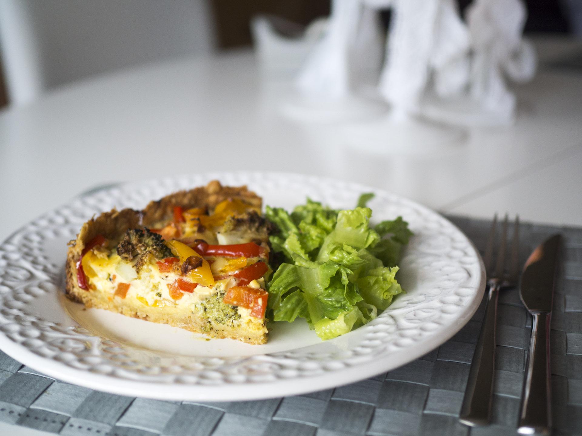 Broccolipaj med paprika