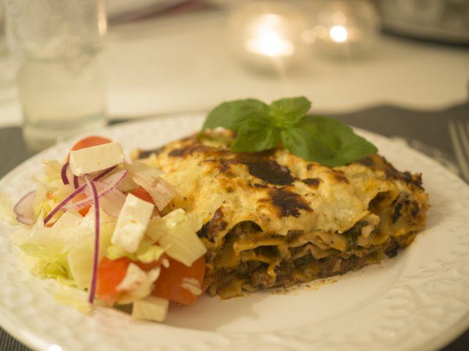 Krämig lasagne med örter
