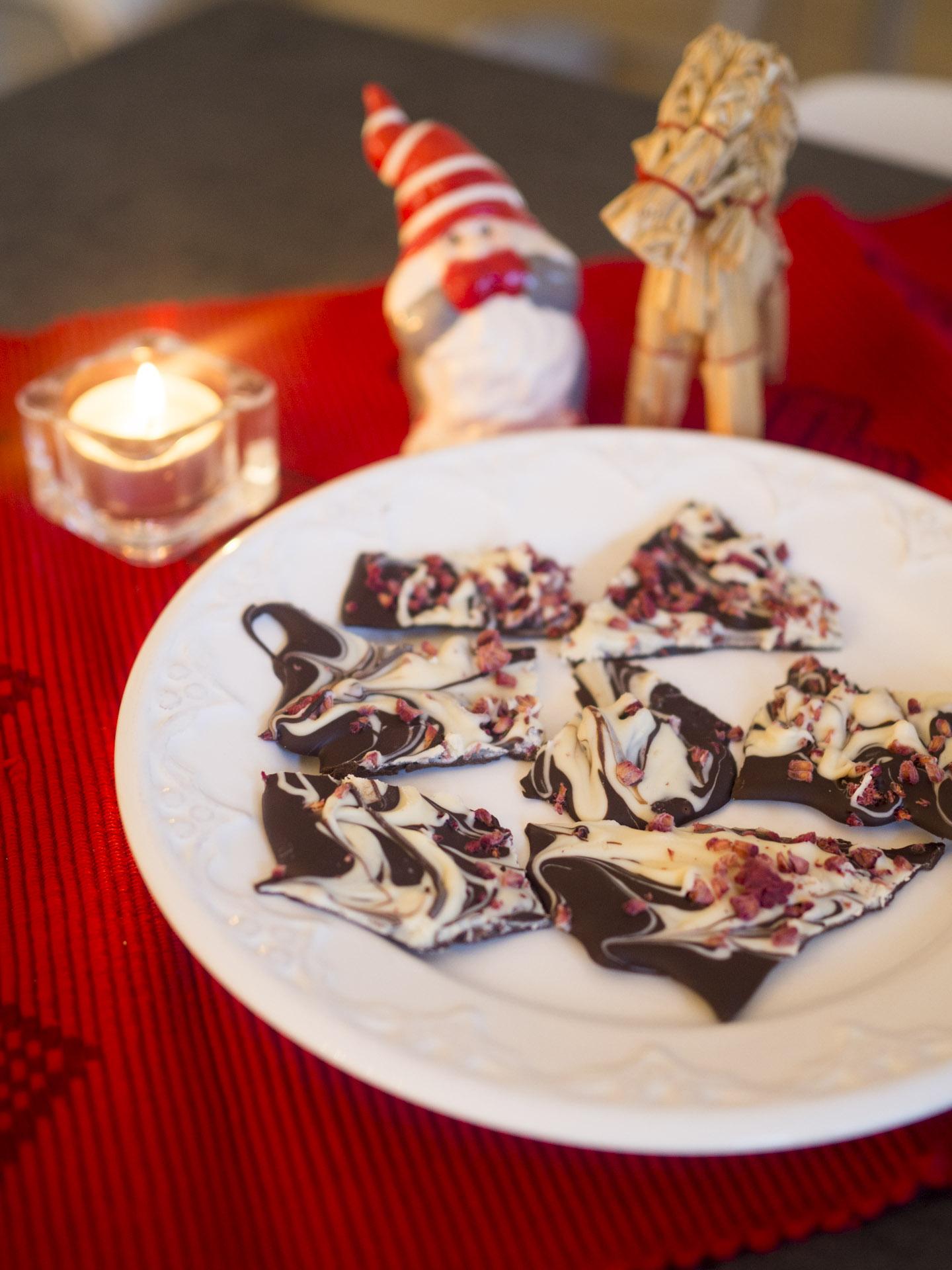 Chokladbräck med hallon