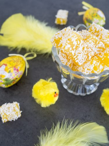 Mangogodis med lime och kokos