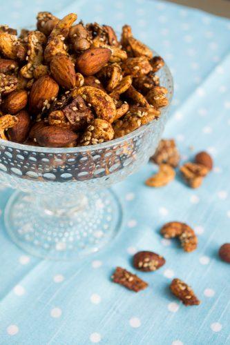 Kryddrostade nötter - ätbara presenter
