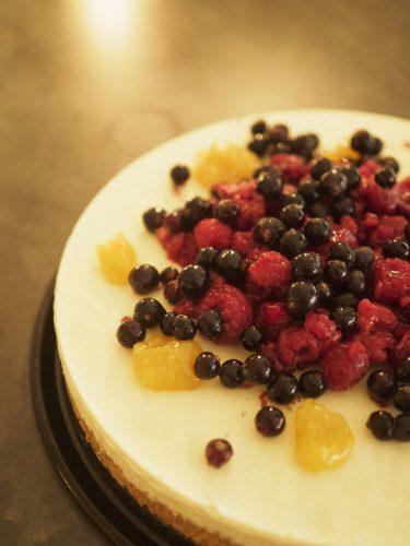 Citroncheesecake på mandelbotten