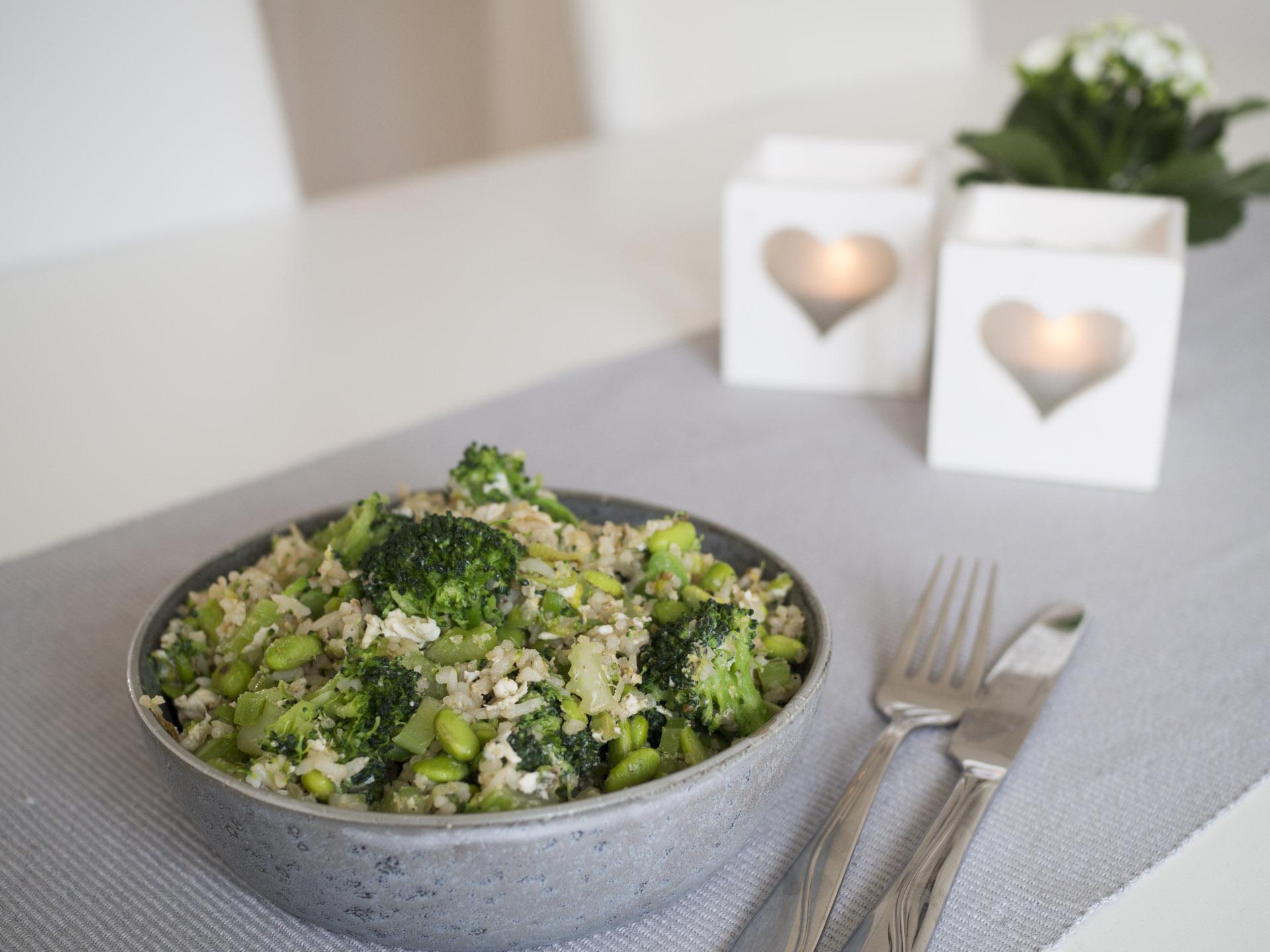Grön fried rice