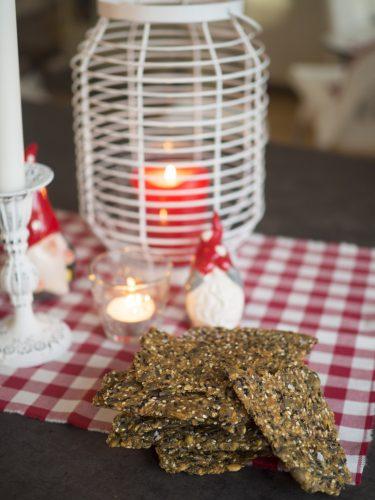 Glutenfri kost - Fröknäcke med pumpafrön och kummin