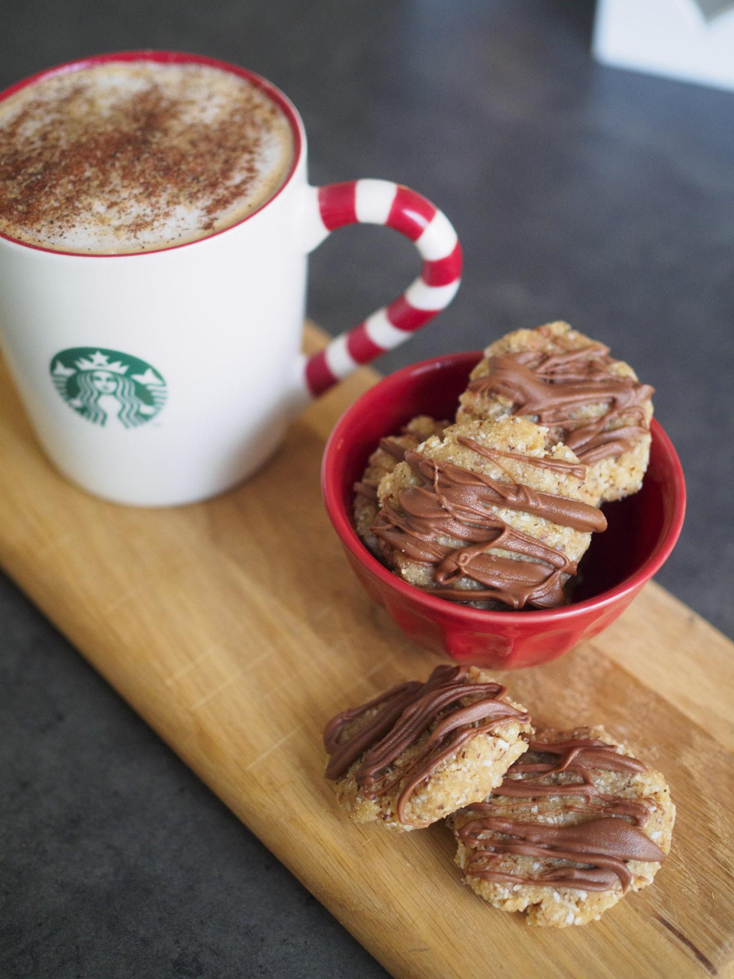 Jordnötskakor med choklad