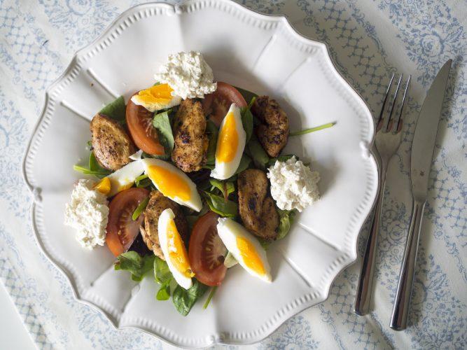 Snabb lunch - kycklingssallad