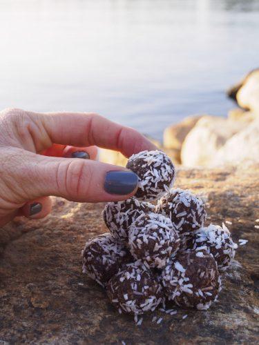 Chokladbollar med valnötter