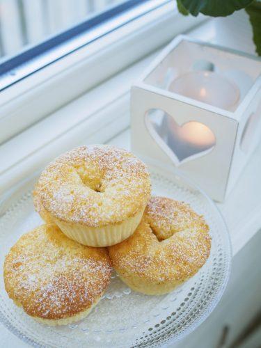 Glutenfria rabarbermuffins