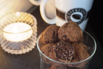 Hasselnötsbollar med choklad